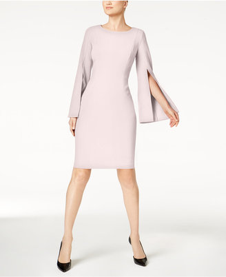 Calvin Klein Split Bell-Sleeve Scuba Dress