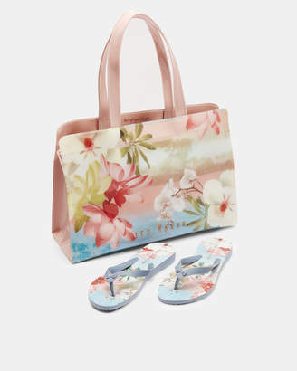 Ted Baker YUZI Mint Choc Chop flip flop and icon bag set
