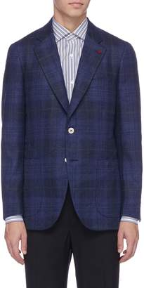 Isaia 'Sailor' tartan plaid wool-cashmere melton blazer