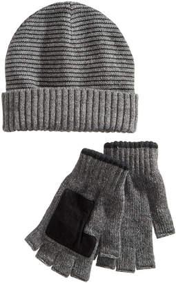 Ryan Seacrest Distinction Men's Striped Beanie & Gloves Set
