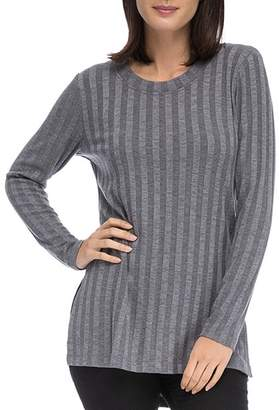 Bobeau B Collection by Alex Ribbed Tunic Tee