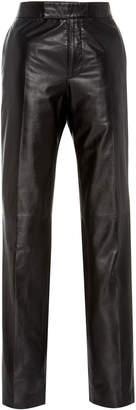 Helmut Lang High-Rise Leather Suit Pant