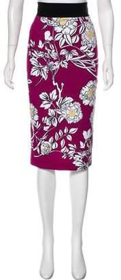 L'Wren Scott Jacquard Floral Skirt