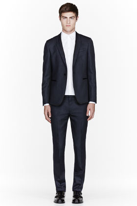 Paul Smith Navy pindot tuxedo