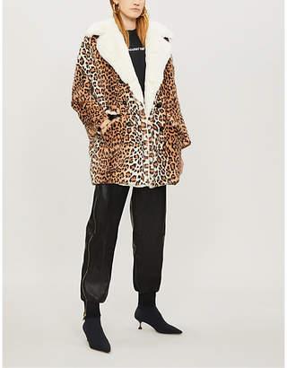 The Kooples Leopard-print faux-fur coat