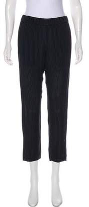Theory Silk Mid-Rise Pants