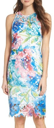 Women's Betsey Johnson Lace Sheath Dress $148 thestylecure.com