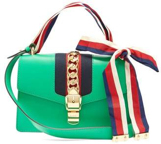 Gucci Sylvie Leather Shoulder Bag - Womens - Green