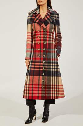Christina Khaite The Coat In Red Plaid