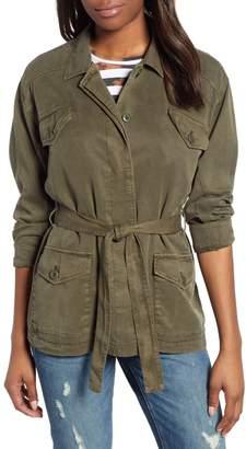 Lucky Brand Belted Linen Blend Utility Jacket
