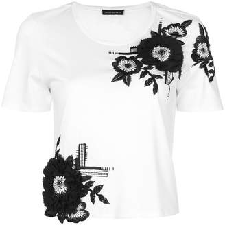 Josie Natori floral embroidered T-shirt