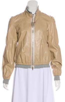 Rivamonti Leather Zip-Up Jacket