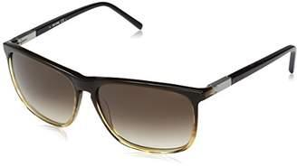 bbbed850e6d Jack Spade Men s Sanders Rectangular Sunglasses Tan Fade Warm Brown Gradient