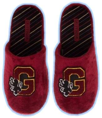 Bioworld Harry Potter House of Gryffindor Soft Fuzzy Slip On Slippers Slides Womens SM-LG