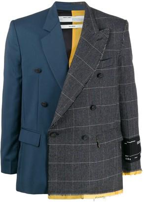 Off-White contrasting two tone blazer