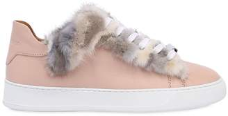 Dioniso Black 20mm Mink Fur & Leather Sneakers