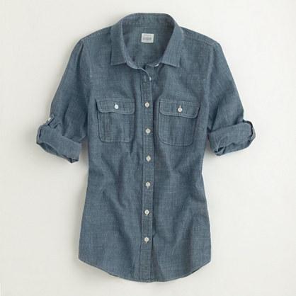 J.Crew Factory Factory two-pocket chambray shirt