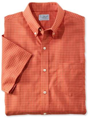 L.L. Bean L.L.Bean Wrinkle-Free Check Shirt, Traditional Fit Short-Sleeve