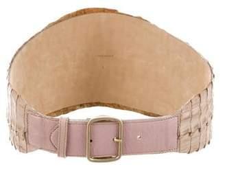 Givenchy Alligator Tail Belt