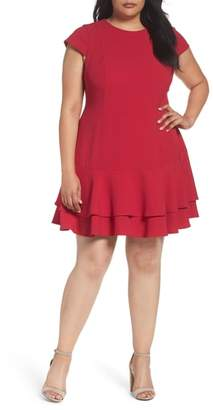 Eliza J Crepe Drop Waist Dress