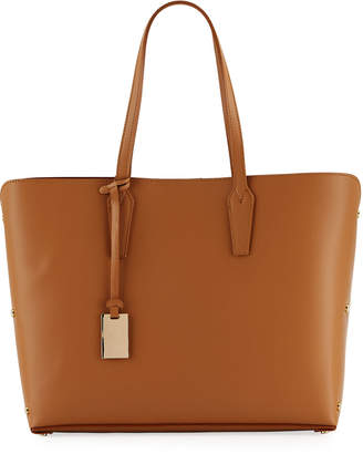 Neiman Marcus Leather Tote Bag with Rivet Hardware
