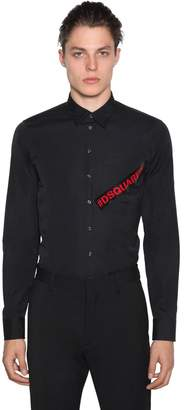 DSQUARED2 Printed Cotton Poplin Shirt