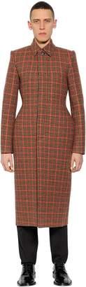 Balenciaga 3d Wool Tweed Coat