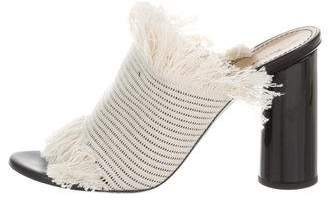 Proenza Schouler Frayed Slide Sandals