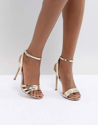Lipsy 3 Strap Barely There Sandal