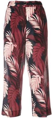 Moncler cropped floral trousers
