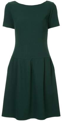 Oscar de la Renta short-sleeved pleated dress