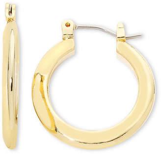 Liz Claiborne Gold-Tone Tube Hoop Earrings