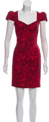 Michael Kors Printed Sheath Mini Dress