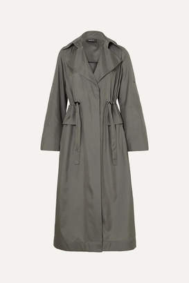 Akris Ediz Mulberry Silk-satin Coat - Gray