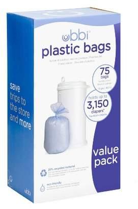 Pearhead Ubbi Plastic Diaper Pail Bags - White - 75ct