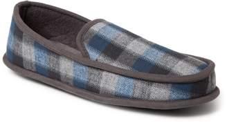 Dearfoams Men's Plaid Moccasin Slippers