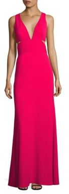 Laundry by Shelli Segal Deep V-Neck Cutout Gown $295 thestylecure.com