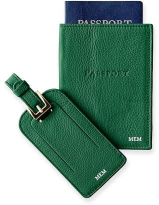 Mark And Graham Leather Luggage Tag & Passport Case Set