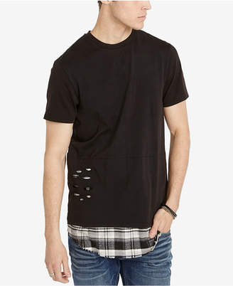 Buffalo David Bitton Men Oversized Layered-Look T-Shirt