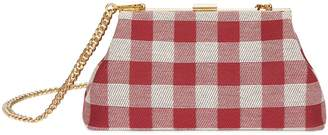 Mansur Gavriel Checker Mini Volume Clutch - Flamma