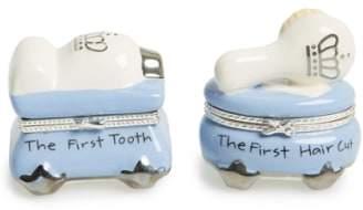 Mud Pie 'Prince' First Tooth & Curl Treasure Box Set