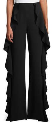 Cinq à Sept Saphir Ruffle Wide-Leg Pants