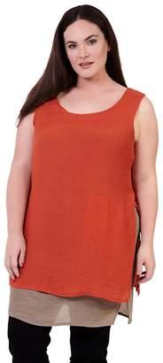 d595f24d280 at Debenhams · Izabel London Curve - Orange Plus Size Layered Tunic Dress