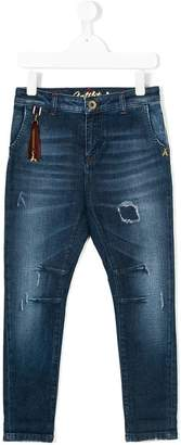 Patrizia Pepe Junior distressed jeans