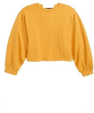 Treasure & Bond Lace-Up Sweatshirt
