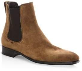 Salvatore Ferragamo Darien Original Castoro Suede Ankle Boots