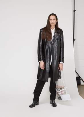 Maison Margiela Leather Trench Coat