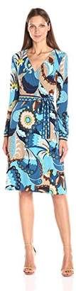 Trina Turk Women's Hush Bouvier Botanical Matte Jersey Wrap Dress
