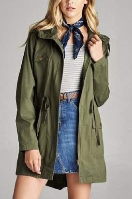 Active Basic Hooded Utility Jacket