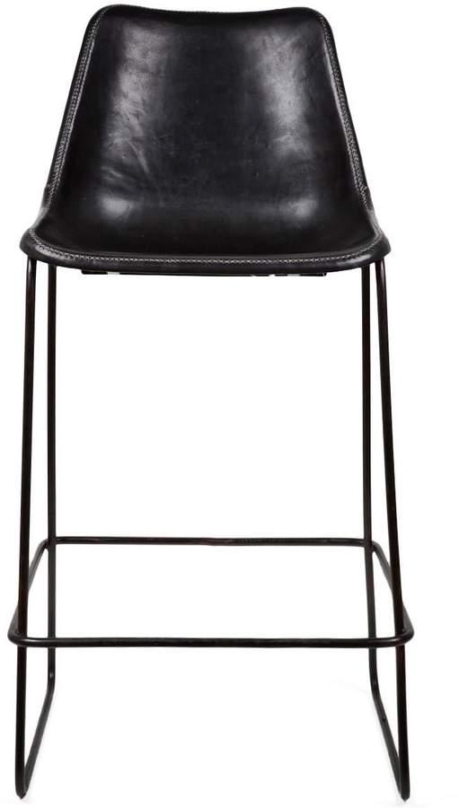 Giron Giron Leather Bar Stool Black